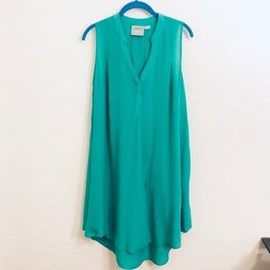 Anthropologie Maeve Silk Tunic Dress